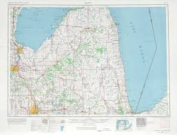 Midland Michigan Map by Flint Topographic Maps Mi Usgs Topo Quad 43082a1 At 1 250 000 Scale