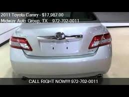 2011 toyota xle for sale 2011 toyota camry xle v6 for sale in tx 75001