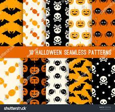 halloween web backgrounds ten halloween different seamless patterns endless stock vector