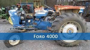 ford 4000 tractor parts youtube