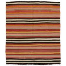 Turkish Kilim Rugs For Sale Striped Cotton And Wool Anatolian Kilim Flat Woven Rug For Sale At
