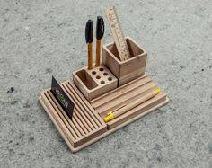 complete desk organizer yourself oak desk by promidesign on etsy