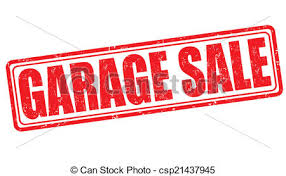vectors of garage sale poster garage or yard sale with signs