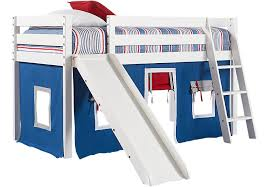 Slide Bunk Bed Freedom Fort White Jr Tent Loft Bed With Slide Bunk Loft Beds