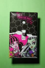 monster high home decor monster high light switch plate cover girls child by comicrecycled