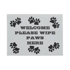 Wipe Your Paws Doormat Zazzle Cat Welcome Doormats U0026 Welcome Mats Zazzle