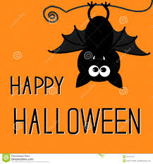 cute bat happy halloween card stock photos image 34102153