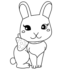 bunny coloring pages free printable glum