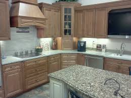 Green Garden Outside Kitchen With Light Brown Unfinished Mills - Mills pride kitchen cabinets