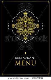 menu design restaurantoriental cuisine restaurant menu stock