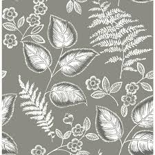 Arcadia Floral And Home Decor Kenneth James Arcadia Grey Banana Leaf Wallpaper Ps40200 The