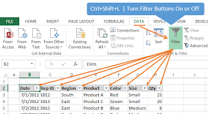 7 keyboard shortcuts for the filter drop down menus in excel