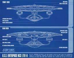 Blueprints by Star Trek Uss Enterprise A D Deep Space 9 Blueprints