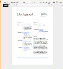 use google docs039 resume templates for a free good looking