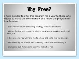 marketing experiment 1 a day program description