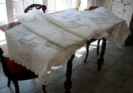 em s antique linens vintage army navy embroidered linen