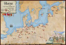 Lubeck Germany Map by Middle Ages Latvian History