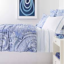 lyric paisley blue duvet cover pine cone hill