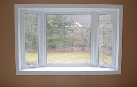 bay window pics with simple white wooden window frames and brown