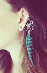how to make feather ear cuffs handmade silver ear cuff teal catcher ear cuff feather ear