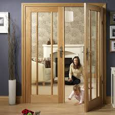 Fire Rated Doors With Glass Windows by Worcester Oak 3 Pane Fire Door Pair With Clear Safety Glass And 30