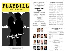 playbill wedding programs playbill wedding program 26 images of theater playbill play