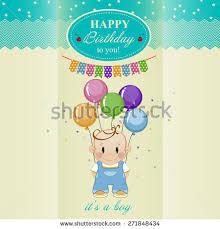 birthday card boys birthday stock vector 271848434 shutterstock