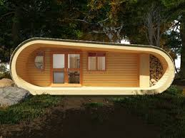 Tiny Cottage Design by Simple Living In A 494 Sq Ft Modern Prefab Curvy Tiny Cabin