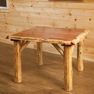 Log Dining Room Tables Red Cedar Log Dining Room Furniture