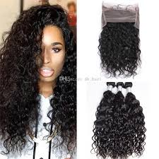 wet and wavy human hair weave hairstyles virgin malaysian water wave human hair 3 bundles with 360 lace