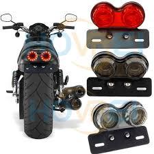 motorcycle license plate frame with led brake light 12v vintage cafe racer flashers universal motorcycle led brake light