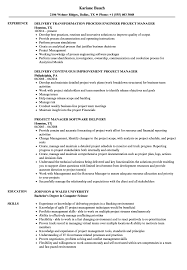 project director resume template delivery manager project manager resume samples velvet jobs