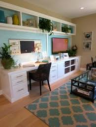 A Family Office And Guest Room In One Home Office That Functions - Family room office
