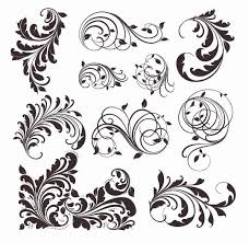 set of different tribal tattoo designs real photo pictures