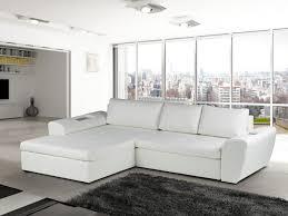 canapé blanc d angle canapé d angle convertible simili noir ou blanc tiphaine