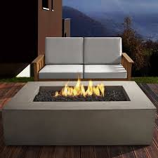 furniture real flame baltic rectangle propane fire pit table in
