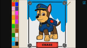 paw patrol chase coloring pages kids coloring games paw