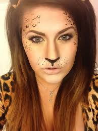 leopard lady leopards and halloween make up