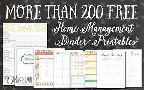printable calendar home organization more than 200 free home management binder printables fab n free