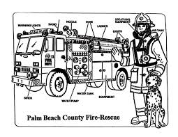 fire truck coloring pages firefighter dessincoloriage