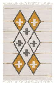 amigos de hoy totem cream u0026 metallic gold cotton rug u2013 miss amara hk