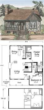 floor plans for cabins 16 x34 with loft plus 6 x34 porch side simple design ideas fishing cabin floor plans house building plan