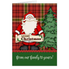 from our family to yours cards zazzle