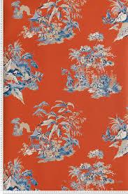 papier peint york chambre papier peint chinoiserie bleu collection toiles de york by