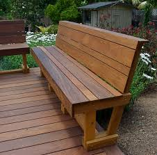 modern outdoor bench treenovation