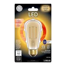 Led Light Bulbs Ge by Ge Lighting 33024 Dimmable Led Vintage St19 Light Bulb With Medium