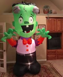 image gemmy prototype halloween wacky frankenstein inflatable