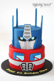 optimus prime cakes stylishly sweet cakes