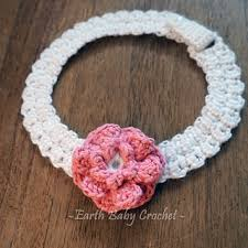 baby crochet headbands ravelry lace buttoned adjustable headband with flower pattern by