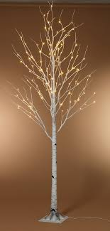 led tree foot led lighted birch tree warm white